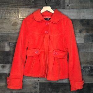 Jack by BB Dakota Red Orange Pea Coat